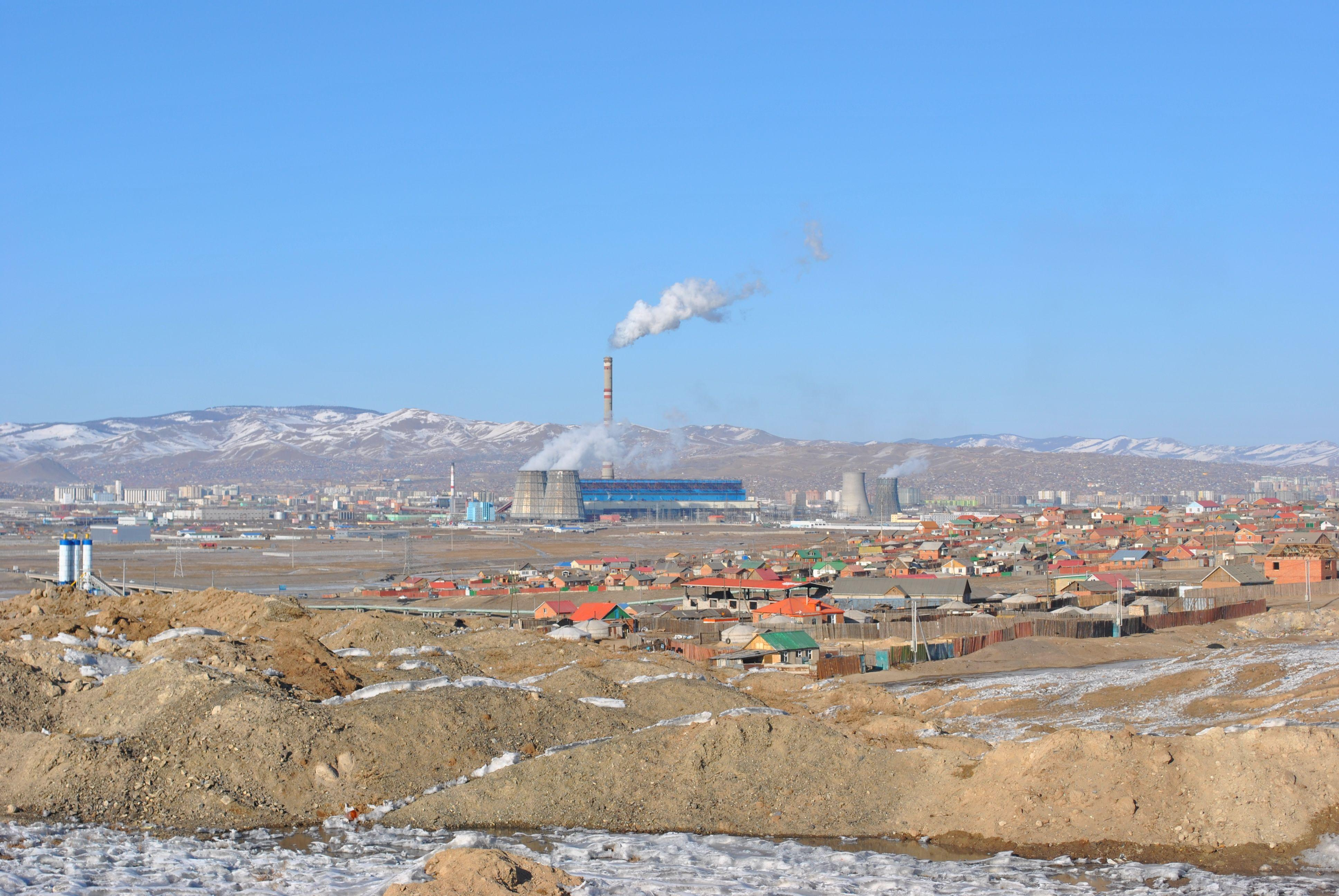 Coal-fired power plant in the Mongolian capital Ulaanbaatar